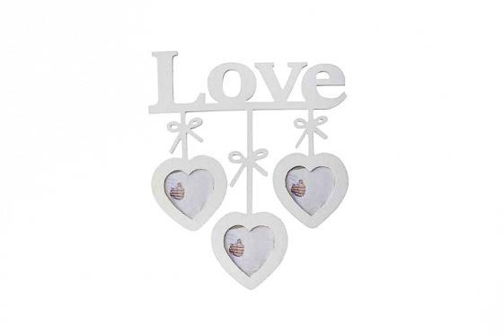Bilderrahmen Love - für 3 Fotos