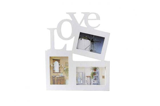 Cadre photo Love - Pour 3 photos