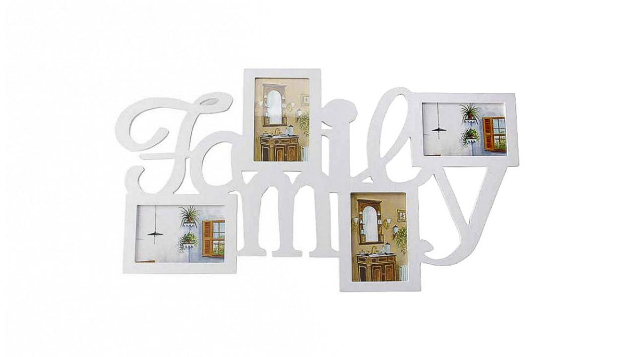 cadre photo family pour 4 photos cadeaux24. Black Bedroom Furniture Sets. Home Design Ideas