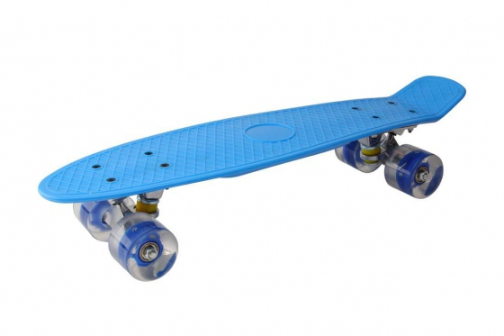 LED Skateboard - blau