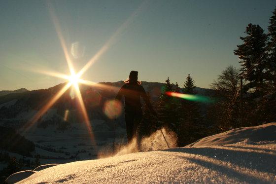 Abend- oder Vollmondschneeschuhtour - mit Fondueplausch und Bockerlabfahrt 2 Personen  [article_picture_small]