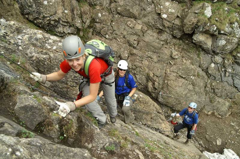 Klettersteig Bern : Klettersteig chäligang
