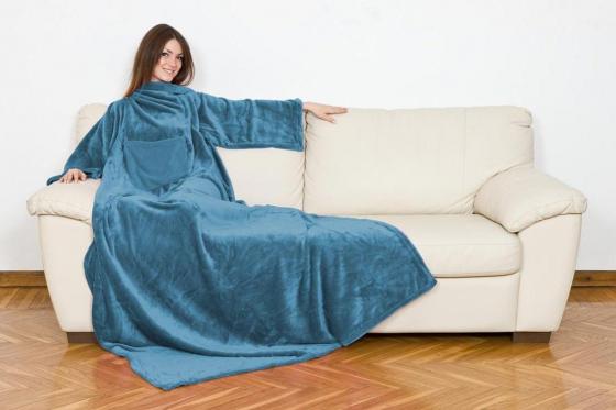 Couverture à manches - Bleu
