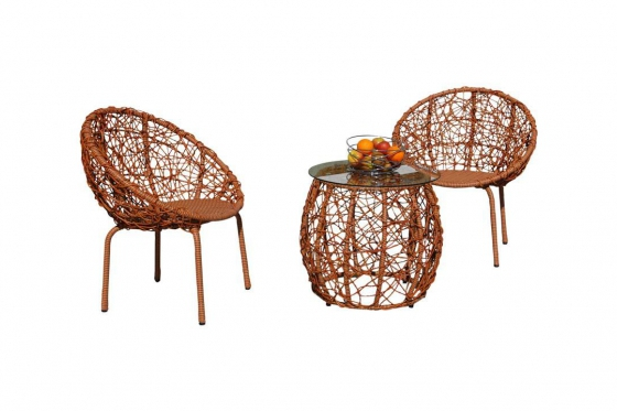 Rattan Bistro Set - 3-teiliges Set 2