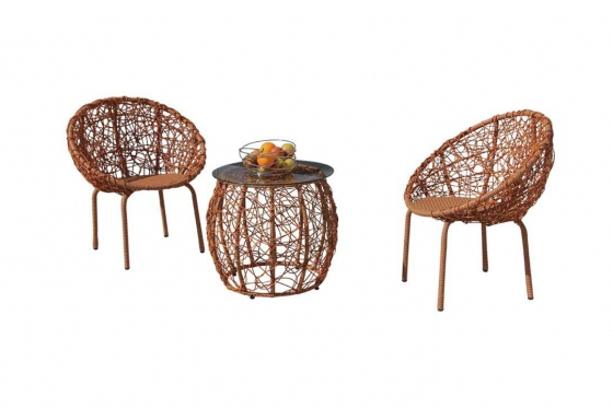 Rattan Bistro Set - 3-teiliges Set 3