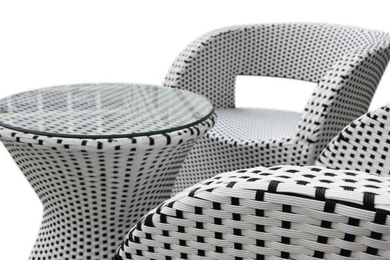 Rattan Bistro Set - Tisch + 2 Stühle 1
