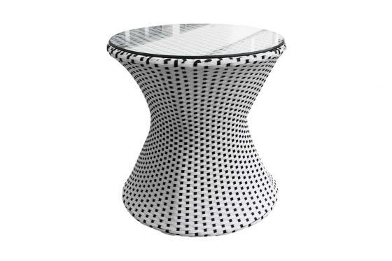 Rattan Bistro Set - Tisch + 2 Stühle 4