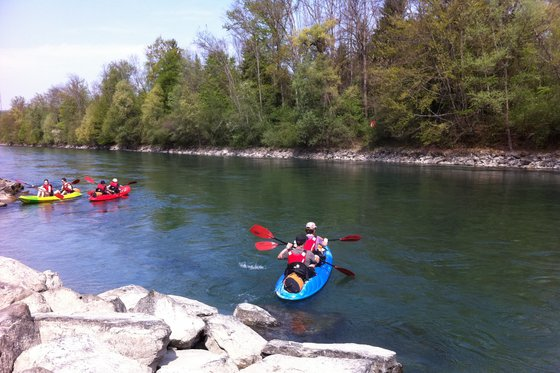 Kajak Tour rund um Bern - Wasser Erlebnis für 5 Personen  [article_picture_small]