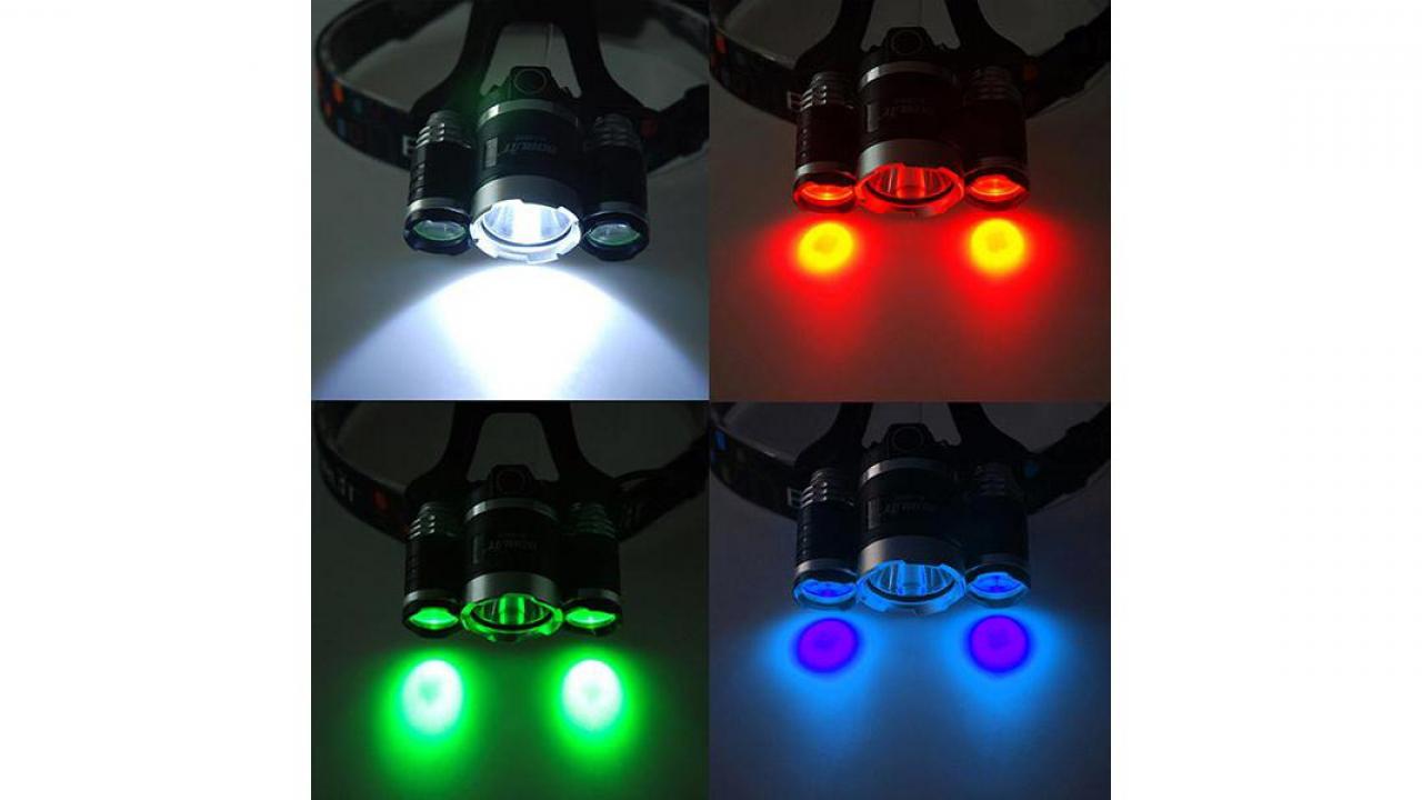 LED Stirnlampe   Mit 3 Leuchten 3 ...