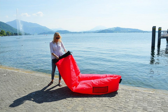 Chill Bag Bright Pink - Aufblasbare Lounge 1