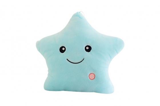 Coussin étoile - bleu