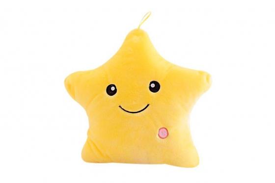 Kuschelkissen Stern - gelb