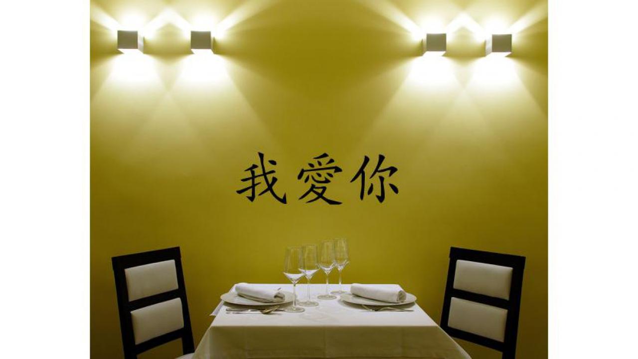 Grössen Erhältlich 1; Wandtattoo   Chinesische Zeichen Ich Liebe Dich   In  Div.