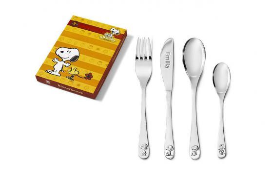 Kinderbesteck-Set Snoopy - mit Gravur