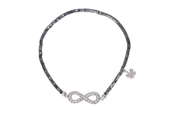 Silber Armband - mit Zirkonia