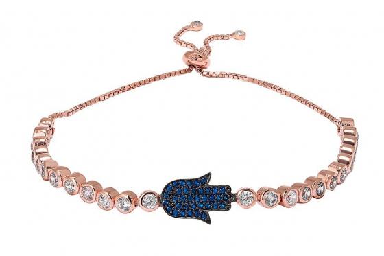 Bracelet en or rose  - avec zirconium