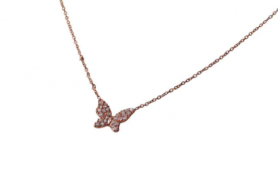 Roségold Halskette - mit Zirkonia