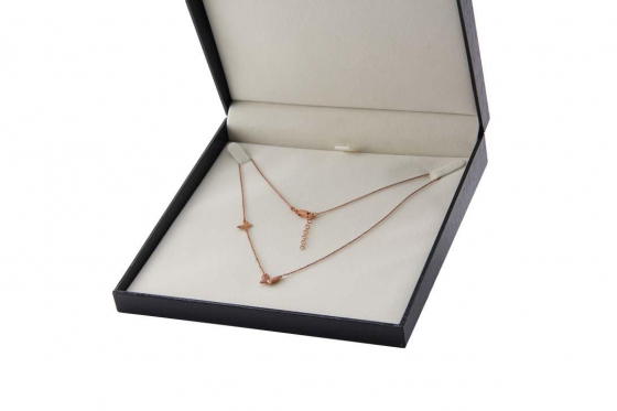 Roségold Halskette - mit Zirkonia 1