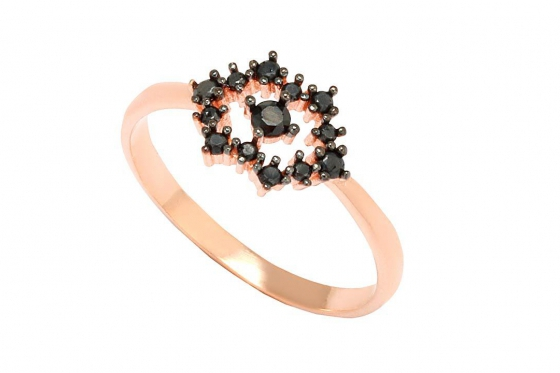 Roségold Ring - mit Zirkonia
