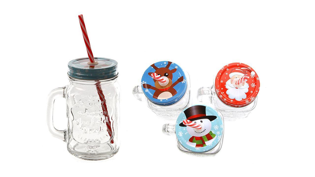 Verre boire no l - Bonhomme de neige en verre plastique ...