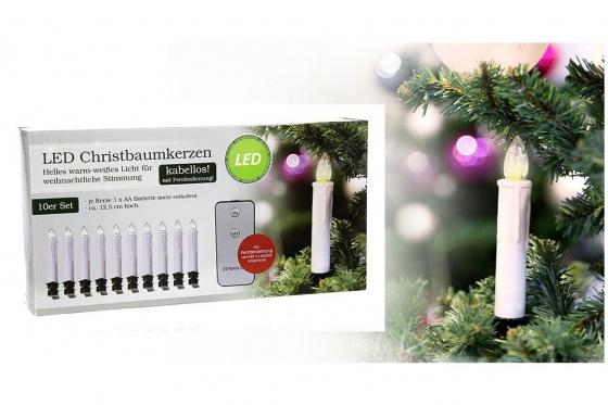 LED Christbaumkerze - 10er Set