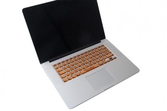MacBook Tastatur Skin - Kirschholz
