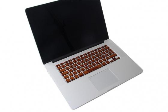 MacBook Tastatur Skin - Walnussholz