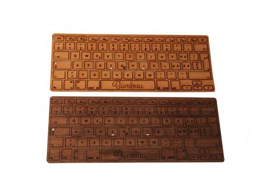 MacBook Tastatur Skin - Walnussholz 2
