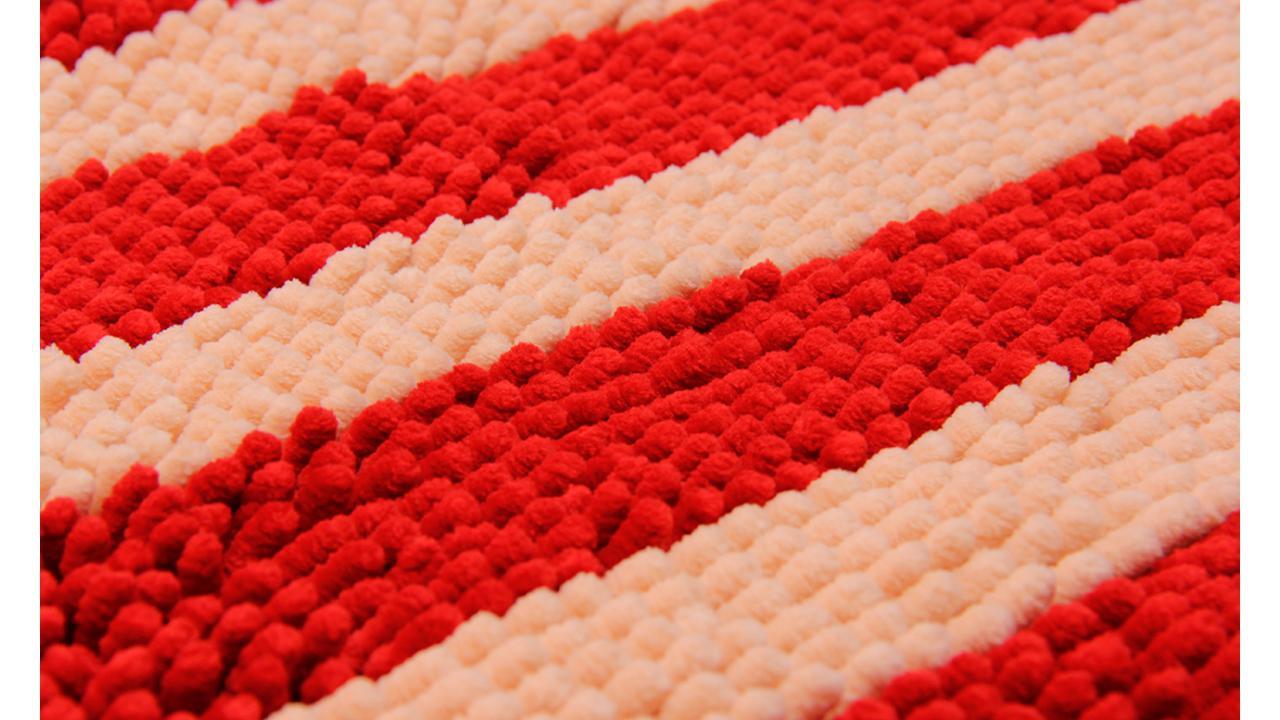 Teppich Rot Weiss Gestreift
