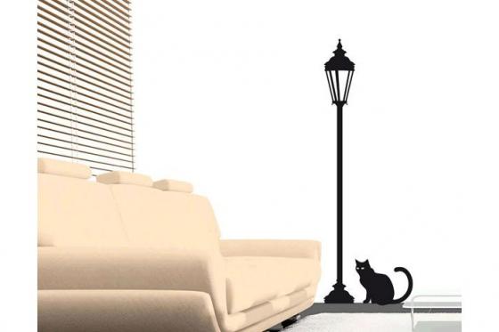 Wandtattoo - Midnight cat - in div. Grössen erhältlich