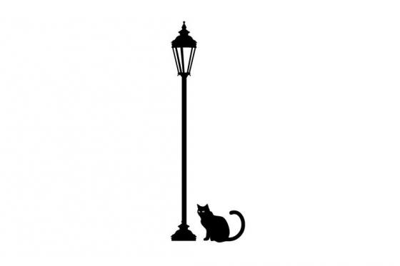 Wandtattoo - Midnight cat - in div. Grössen erhältlich 1