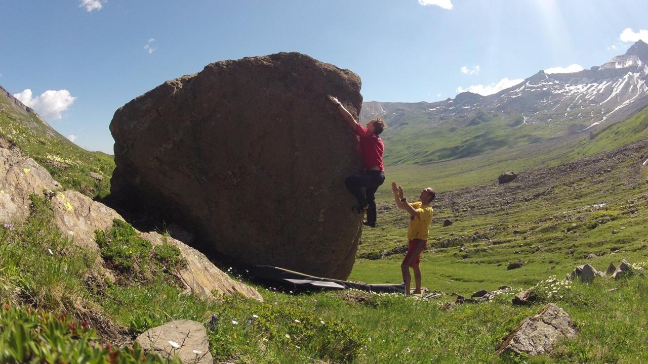Klettersteig Engstligenalp : Klettersteig bouldern