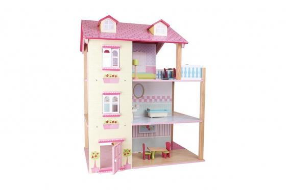 Puppenhaus Rosa - Drehbar