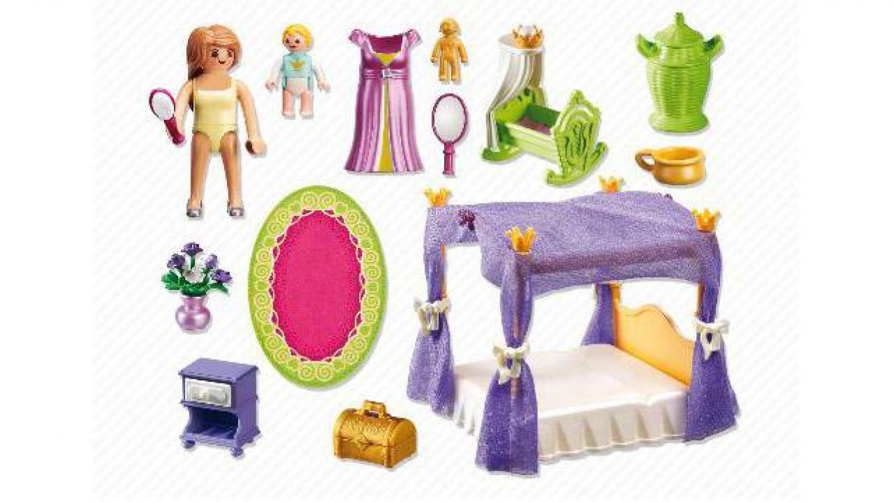 chambre de la reine avec lit baldaquin. Black Bedroom Furniture Sets. Home Design Ideas