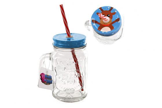 Trinkglas Weihnachten - Rentier