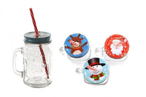 Trinkglas Weihnachten - Rentier 1
