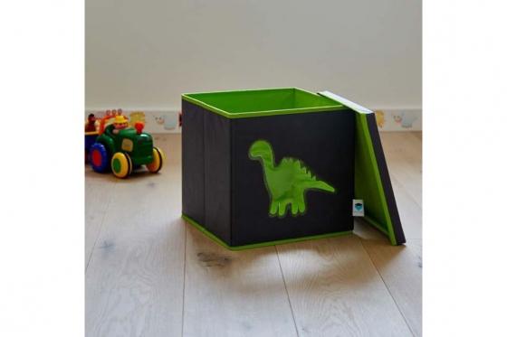 Coffre à jouets avec fenêtre de vue - Dinosaure 1
