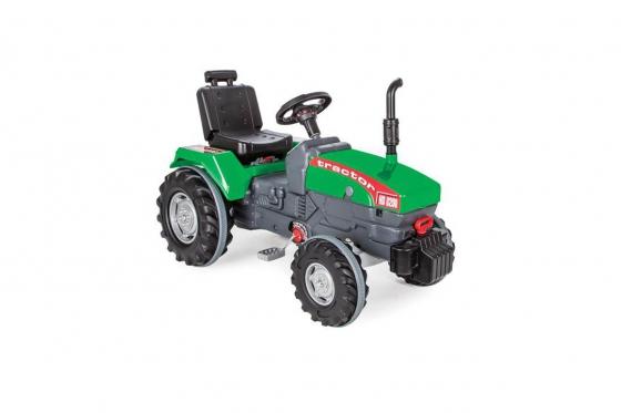Tracteur à pédales - couleur verte, pour enfants