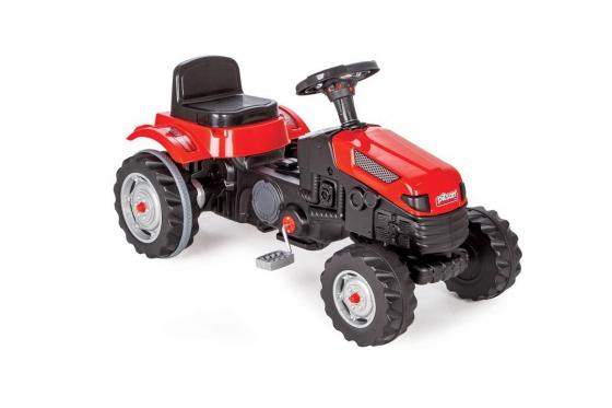 Tracteur à pédales - couleur rouge, pour enfants