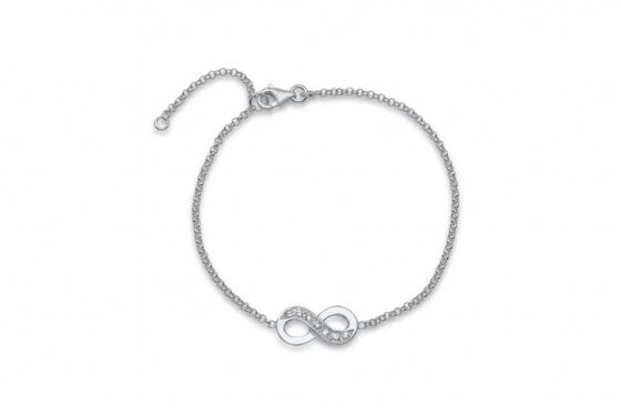 Bracelet en argent - Avec zircon