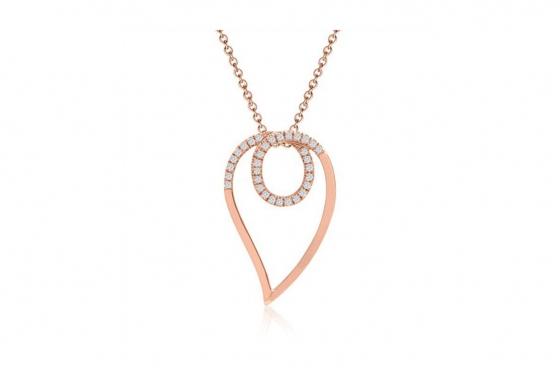 Collier en diamants - Or rose 585