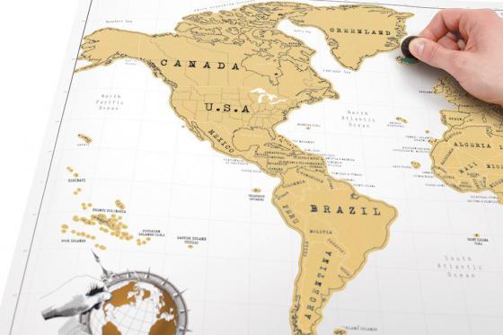 Mappemonde à gratter - pour les globe-trotteurs