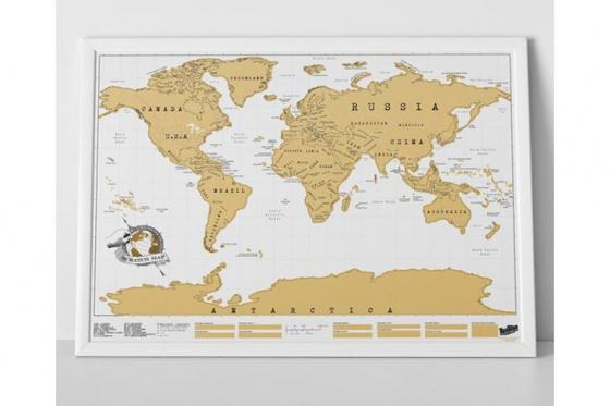 Mappemonde à gratter - pour les globe-trotteurs 1