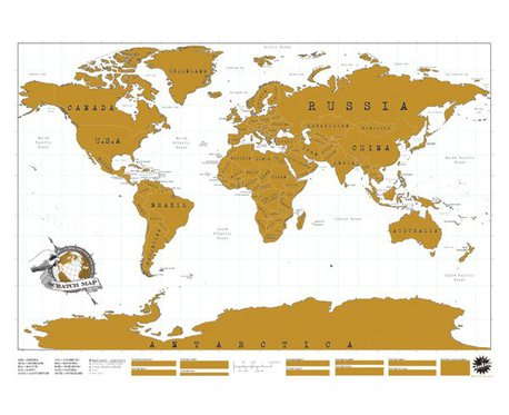 Mappemonde à gratter - pour les globe-trotteurs 4