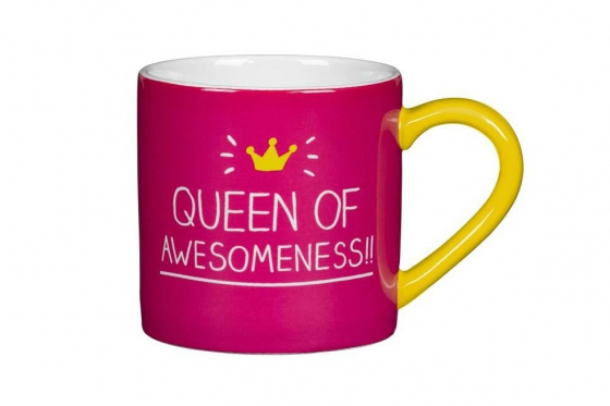 Tasse mit Spruch - Queen of Awesomeness!