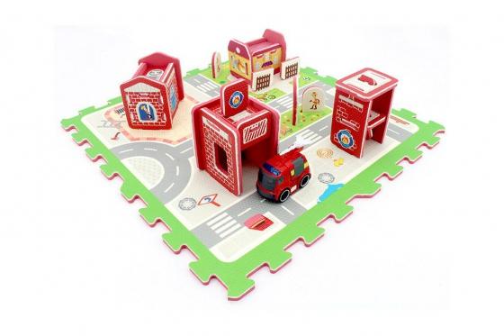 3D Puzzlematte Feuerwehr - inkl. Feuerwehrauto