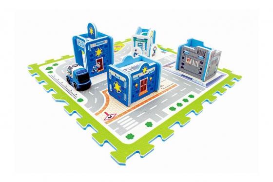 3D Puzzlematte Polizeistation - von happytoys