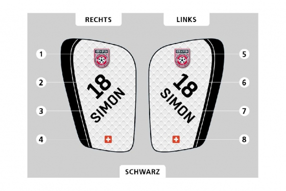 Fussball Schienbeinschoner - Personalisierbar