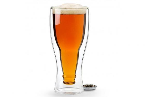 Verre à bière - En forme de bouteille à l'envers