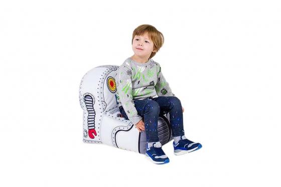 pouf en forme de robot pour enfants cadeaux24. Black Bedroom Furniture Sets. Home Design Ideas